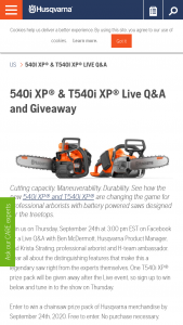 Husqvarna – 540i X & T540i Xp Live Q&a And Giveaway – Win a prize package