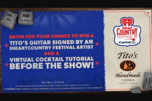 Iheartmedia – Iheartcountry Festival Sweepstakes