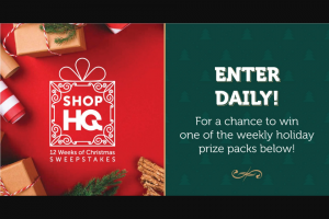 Imedia Shophq – 12 Weeks Of Christmas Sweepstakes