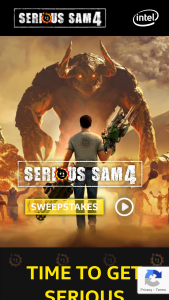 Intel- Serious Sam Sweepstakes