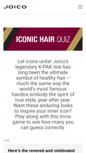 Joico – Joiconic K-Pak Samples Sweepstakes
