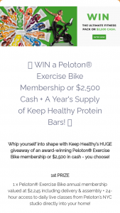 Keep Healthy – Ultimate Fitness Pack Sweepstakes