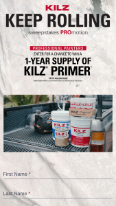 Masterchem Industries Kilz – Keep Rolling – Win one year's worth of KILZ primer