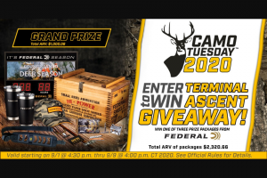 Midwayusa – Camo Tuesday Terminal Ascent Giveaway Sweepstakes