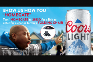 Molson Coors Coors Light – Football Chair Homegate – Win Light-branded tailgate chair with umbrella