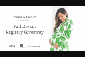 Monica & Andy – Fall Dream Registry Sweepstakes