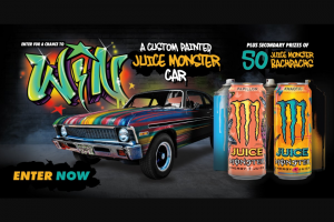 "Monster Energy – Custom Painted Car – Win (1) ""Grand Prize"" is available"