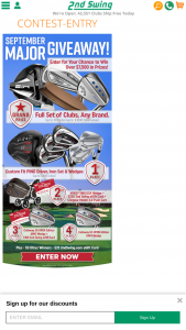 2nd Swing Golf – September Major Contest – Win a $25 2nd Swing Credit