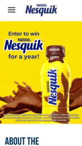 Nestle – Chocolate Milk Day – Win a year's supply of NESQUIK® (365 14 fl oz bottles of NESQUIK® Ready to Drink Chocolate Lowfat milk) (ARV $ 720.00).