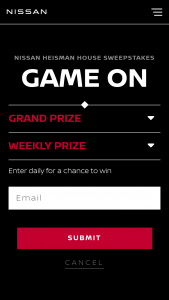 Nissan North America – Heisman House Sweepstakes