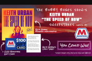 Premiere Networks – The Bobby Bones Show's Keith Urban Sweepstakes