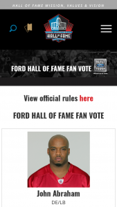 Pro Football Hall Of Fame – Ford Fan Vote Sweepstakes
