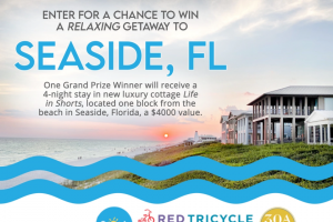 Red Tricycle – Seaside Florida Getaway – Win the Grand Prize consisting of  Four (4) night stay at luxury vacation cottage Life in Shorts