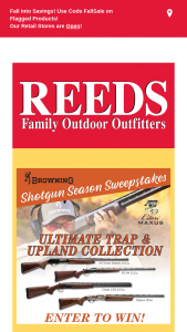 Reeds Family Outdoor Outfitters – Browning Shotgun Season Sweepstakes