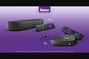 Roku – New Roku Lineup – Win one (1) of five (5) Roku Streambar or one (1) of five (5) Roku Ultra).