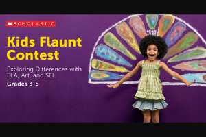 "Scholastic – Kids Flaunt Student Contest – Limited Entry – Win one HP Stream Laptop (14"" HD Display"