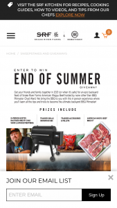 Snake River Farms – End Of Summer Giveaway – Win and accessories up to three months following the drawing to allow for transport and direct to door delivery