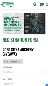 Sportsman's Warehouse – 2020 Sitka Archery Giveaway Sweepstakes