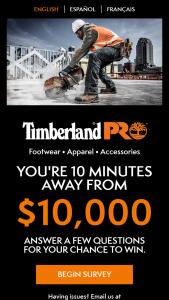 Timberland Pro – $10000 – Win check