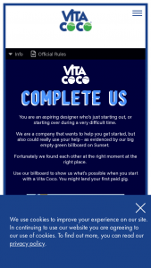 Vita Coco – Billboard Design Contest – Win $1000 awarded in the form of a gift card from the Sponsor designated gift card provider