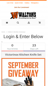Walton's – September Giveaway Sweepstakes