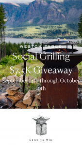 Weston Table – Social Grilling $7.5k Giveaway – Win PACKAGE INCLUDES 1 OFYR Classic 100 Grill