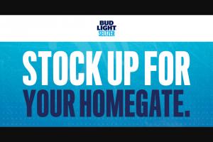 "Anheuser-Busch – Bud Light Seltzer Nfl Homegate – Win a ""Homegate"" prize package that consists of five (5) Bud Light masks"