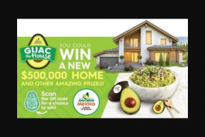 Avocados From Mexico – Guac The House Sweepstakes