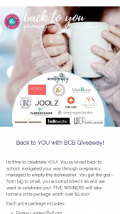 Bump Club And Beyond – Back To You Sweepstakes