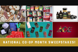 Cabot Creamery – National Co-Op Month Sweepstakes