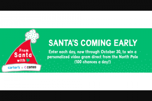 Carter's – Cameo Sweepstakes