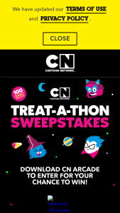 Cartoon Network – Treat-A-Thon – Win a Halloween treat bag containing Halloween favors and candy