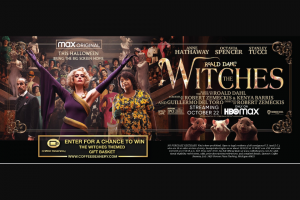 Coffee Beanery – The Witches Sweepstakes