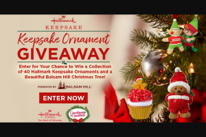 Crown Media Hallmark Channel – Keepsake Ornament Giveaway Sweepstakes