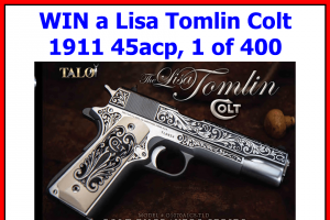 Dk Firearms – Lisa Tomlin Colt – Win Lisa Tomlin Colt 1911 45acp with an MSRP of $2099.00