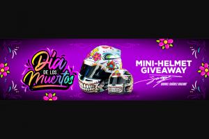 Dns Racing – Dia De Los Muertos Mini Helmet Replica Giveaway – Win one Daniel Suarez Dia de los Muertos Mini Helmet Replica