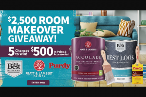 Do It Best – $2500 Room Makeover – Win for any reason or c) has violated the rules of the giveaway