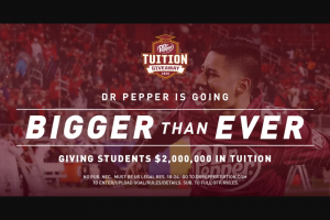 """Dr Pepper – Tuition Giveaway  & Contest – Win as a """"Pass Contestant"""" to participate in the pass competition"""