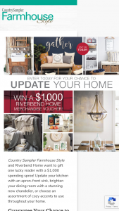 Farmhouse Style – 2020 Riverbend Home Giveaway Sweepstakes