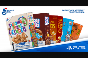 General Mills – Play Big Win Big With Ps5 & Big G Cereals  – Win (1) PlayStation®5 console