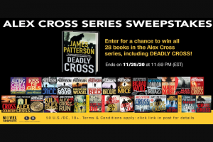 Hachette Book Group – James Patterson Sweepstakes
