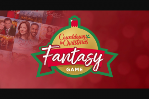 Hallmark Channel – Countdown To Christmas Fantasy Game – Win $20000 cash awarded in the form of a check payable to the Grand Prize Winner
