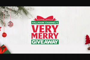 "Hallmark Channel – Very Merry Giveaway – Win a grand prize (""Grand Prize"") of $10000 in a form of a personal check and their friend will receive $10000 for a total of $20000."