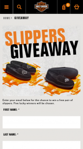 Harley-Davidson – 2020 Slippers Giveaway Sweepstakes