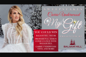Iheart Bobby Bones Show – Carrie Underwood Balsam Hill Sweepstakes