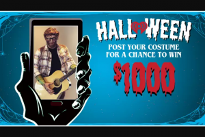 Iheart – Halloween Contest – Win $1000 in the form of a check