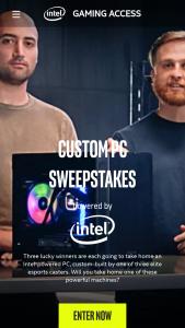 Intel – Custom PC Sweepstakes