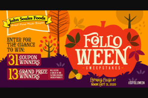John Soules Foods – Folloween Sweepstakes