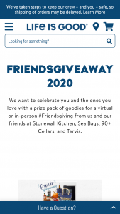 Life Is Good – Friendsgiveaway Sweepstakes