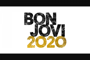 Live Nation – Bon Jovi 2020 Giveaway – Win one limited edition